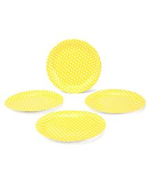 B Vishal Polka Dot Plate Small Yellow - Pack of 10