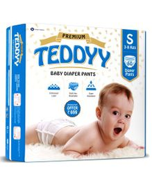 Teddyy Baby Premium Pant Style Diapers Small - 60 Pieces