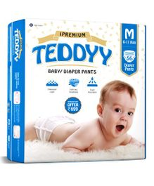 Teddyy Baby Premium Pant Style Diapers Medium - 56 Pieces