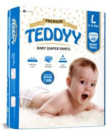 Teddyy Baby Premium Pant Style Diapers Large - 48 Pieces