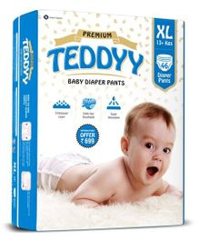 Teddyy Baby Premium Pant Style Diapers Extra Large - 46 Pieces