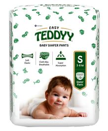 Teddyy Baby Easy Pant Style Diapers Small - 10 Pieces