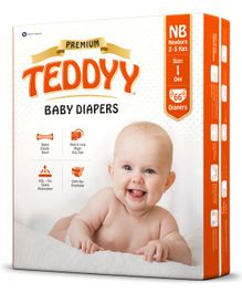 Teddyy Baby Premium Diapers Extra Small - 66 Pieces