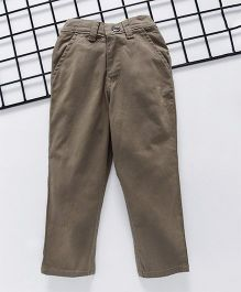 Palm Tree Full Length Trouser - Tan