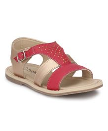 Tuskey Buckle Closure Flat Sandals - Pink