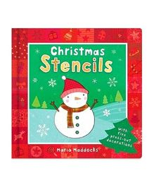 Christmas Activity Book With Stencils - English