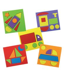 Quill On Make With Shapes Sorting Puzzle Game Set - Multicolour