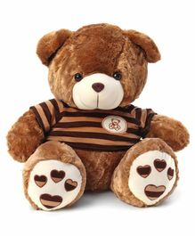 Dimpy Stuff Teddy Bear With T-Shirt Brown - Height 50 cm