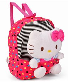 Hello Kitty School Bag With Detachable Toy Pink & White - 12 inches