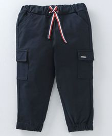 cb510bbeccf Babyoye Full Length Cotton Trouser With Drawstrings - Navy