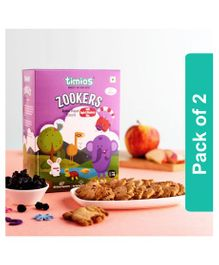 Timios Zookers Apple And Blueberry Biscuits Pack of 2 - 150 gm Each