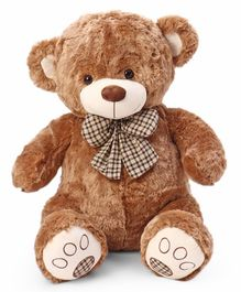 Dimpy Stuff Teddy Bear With A Bow Brown - Height 60 cm
