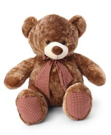 Dimpy Stuff Teddy Bear With A Bow Brown - Height 70 cm