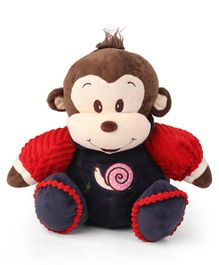 My Baby Excels Monkey Soft Toy With Sweater Blue - 32 cm