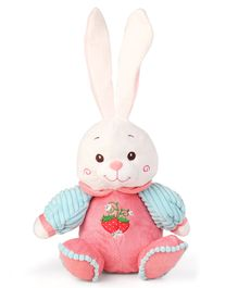 a9bf2ff05013 My Baby Excels Plush Rabbit With Embroidered Sweater Soft Toy Pink - Height  32 cm