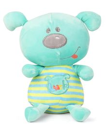 My Baby Excels Smiling Doggy Plush Soft Toy Sea Green - Height 25 cm