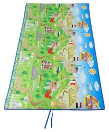 Unimats World Themed Play Mat - Green Blue