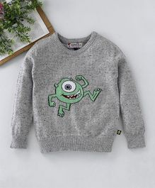 YORDLE (a) Front Intarshia Sweater - Grey