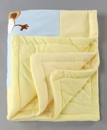 Baby Blanket Monkey Print - Blue Light Yellow