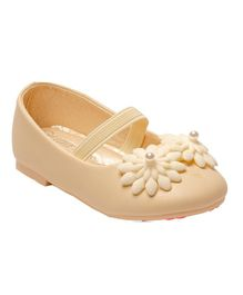 Little Soles Flower Design Ballerinas - Beige