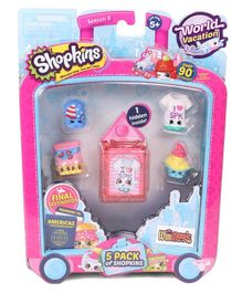 Shopkins Pretend Play Pack of 5 - Multicolour Pink