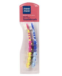 Mee Mee Infant To Toddler Toothbrush Pack of 2 - Blue Yellow