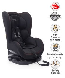 Babyhug Cruise Convertible Reclining Car Seat With Side Impact Protection - Black