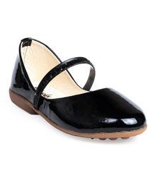 Little Soles Solid Bellies With Glitter Finish Strap - Black