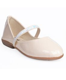 Little Soles Solid Bellies With Glitter Finish Strap - Cream