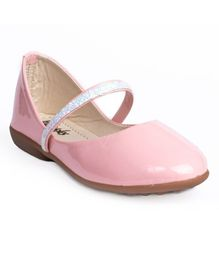 Little Soles Solid Bellies With Glitter Finish Strap - Pink