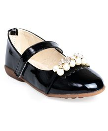 Little Soles Pearl Embellished Bellies - Black