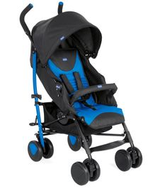 Chicco Echo Stroller With Bumper Bar - Blue & Black