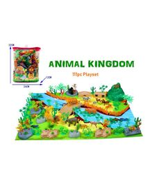 Vibgyor Vibes Wild Animals Figures With Play Mat Multicolour - 111 Pieces