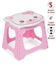 Bear Face Collapsible Baby Stool - Pink