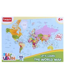 Funskool World Map Puzzles - 105 Pieces