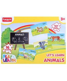 Funskool - Set Of 16 Animal Puzzles