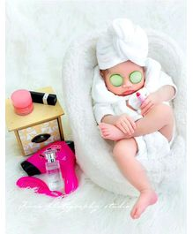 Babymoon Spa Designer Clothing Photography Prop - White