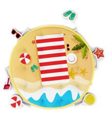Fancy Fluff Baby Play Mat Beach Theme - Beige