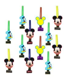 Party Propz Mickey Mouse Themed Blowouts Multicolour - 12 Pieces