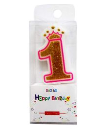 Party Propz Birthday Candle for 1st Birthday - White