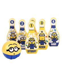 Minion 3D Playball With Bowling Set - Yellow Blue