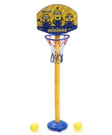 Minions Basket Ball Set With 2 Balls - Yellow