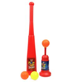 Virgo Toys Pop Up & Strike Baseball Set - Red