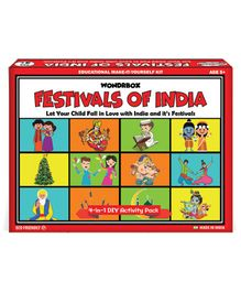 Wondrbox Festivals of India 4 in 1 DIY Kit - Red