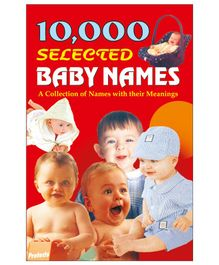 10,000 Selected Baby Names Book - English