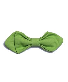 Little Hip Boutique Solid Pin Bow - Green