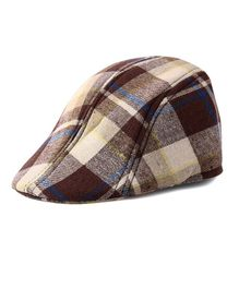 Little Hip Boutique Plaid Beret Cap - Brown