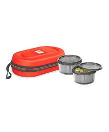 Milton Nutri Lunch Box Elegant Tiffin With Microwavable Steel Container Pack of 2 Red - 700 ml
