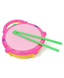 Dr. Toy Flash Drum With Sticks - Pink & Yellow