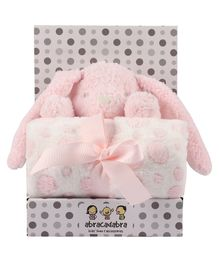 Abracadabra Blanket & Soft Toy Set - Pink
